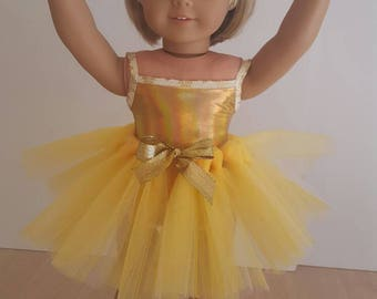 """All That Glitters Recital Costume For American Girl Doll Or Any Other 18"""" Soft-Bodied Doll"""