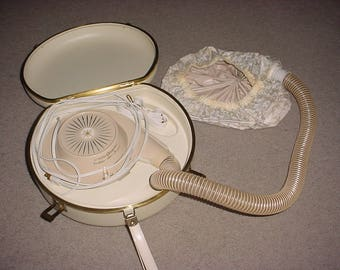 GE General Electric Bonnet Hair Dryer Portable Deluxe ~ Very Clean