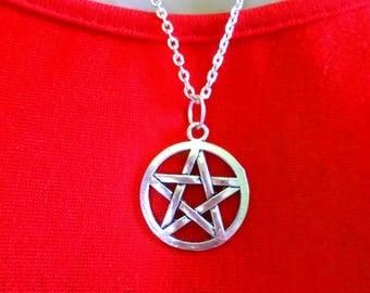 Mystic pentacle necklace Celtic Sun Moon Star choice supernatural cat