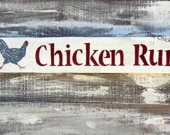 Chicken Run, Chicken Coop Sign, Pallet Signs, Chicken Decor, Chicken Signs,
