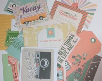 Scrapbook Embellishments  - 13 pieces - Assorted Cardstock diecuts, for , crafts, Scrapbooking, SE0031