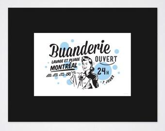 Buanderie Art Print