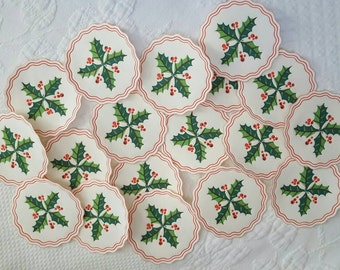 Vintage paper CHRISTMAS COASTERS