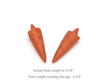 """4  Orange 1-1/4"""" Carrot Nose for Snowman Crafts - Darice -  glue on noses"""