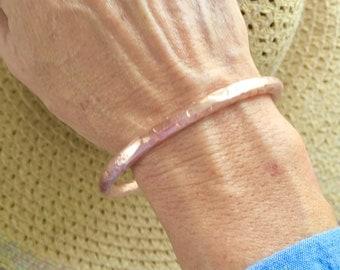 Copper bracelet, copper bangle bracelet, copper arthritis bracelet, copper jewelry, hammered copper bracelet
