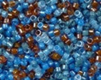 MIYUKI #11 Delica 2068 - Luminous Mix 8  - 5 grams