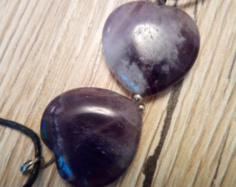 Amethyst healing crystal pendant necklace