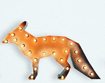 """36"""" wide steel FOX marquee light"""