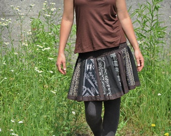 Patchwork Skirt in brown tones
