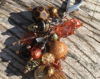 Purse Charm | Chunky Purse Charm  | Black Golden Bronze Purse Charm | Chunky Car Charm | Purse Accessory | Purse Bling