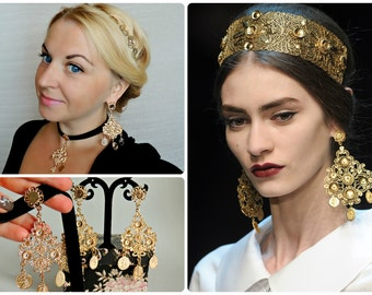Earrings and choker  DOLCE style - Filigree