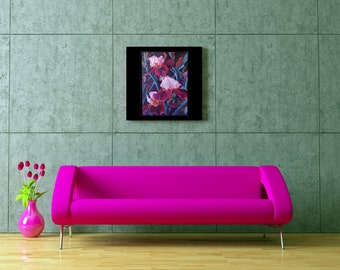 Oil Painting,Original Painting,Flowers,Irises,Decorative painting,Oil Floral Painting,Palette Knife ,handmade home office decor,Oil Painting