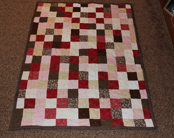 Custom Made Quilt - Patchwork Quilt - Lap Size Quilt - Lap Quilt - EVERYTHING SUPPLIED