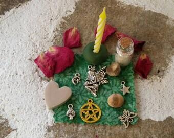Fairy altar kit, Fae altar box, Fairy Magic, magical pixie set, fairy blessings, summer solstice sabbat, Midsummer ritual, pocket altar set