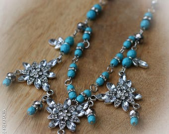 Blooms amongst a Turquoise Garden Necklace