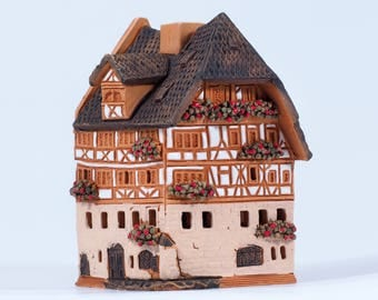 "Ceramic incense burner ""A.Dürer's house in Germany"". Handmade by Midene (R250)"