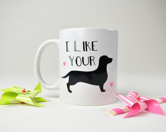 Funny Boyfriend Gift, Gift for Husband, Valentine's Day Gift, Funny Mug, I Like Your Weiner, Funny Coffee Mug, Coffee Cup, Gift for Men