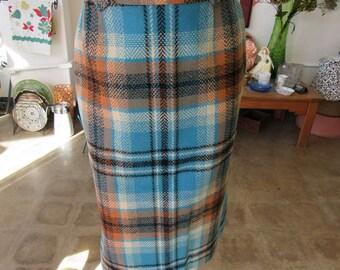 Vintage Pendleton Girl's Blue Wool Skirt Size 14