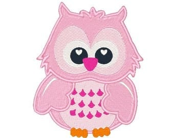 Hoot Owl Machine Embroidery Design Owl Embroidery Designs Birds Embroidery Owls Filled Stitch 4X4 5X7 6X10 8X8 Instant Download