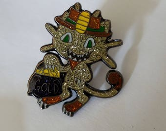 Gold glitter Meowth LE50 pin