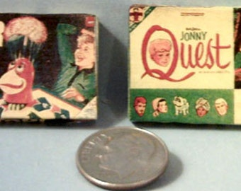 Dollhouse Miniature Vintage Board Games Set #2