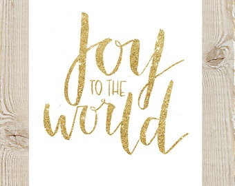 Joy to the World Christmas Watercolor Instant Download Printable Print