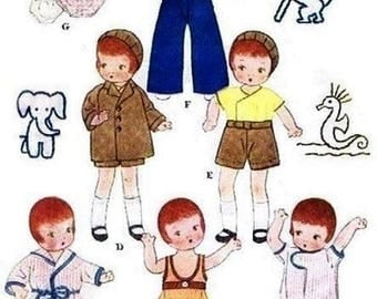 "Skippy & Patsyette Wardrobe Pattern for 9-1/2"" Dolls."