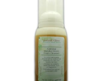 Calming Manuka Foam Facial Cleanser 8 oz - Sensitive Skin Face Wash - Organic Face Wash - All Naural