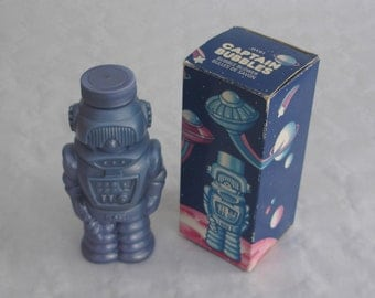 Vintage 80s J. space - Captain bubbles by Avon - bubbles robot