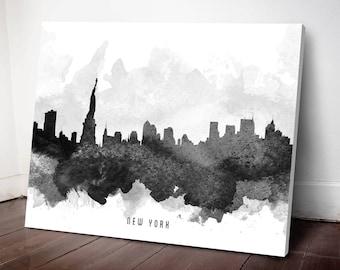 New York Skyline Canvas Print, New York Art , New York Cityscape, New York Art Print, Home Decor, Gift Idea, USNYNY11C