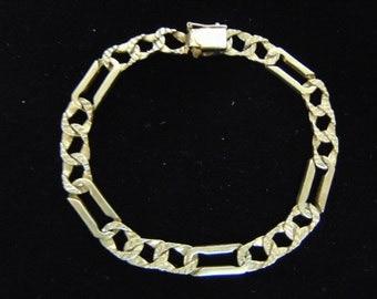 Vintage Estate 14K Yellow Gold Chain Bracelet 20.7g E979