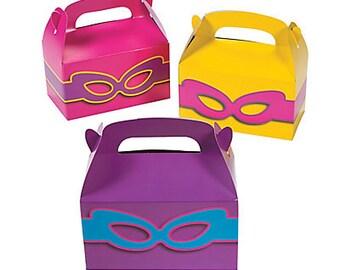 12/ My Girl Superhero Favor boxes   /Superhero girls theme / superhero girl party / treat boxes /