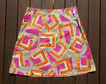 Size 14 Geometric Orange and Pink