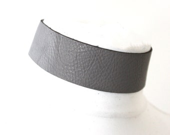 Dark Grey Leather Choker | Grey Choker Neckl |  Leather Jewellery | Grey Leather Choker | bdsm wear