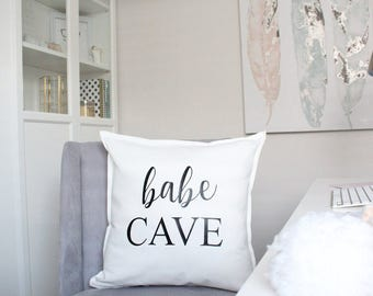 Babe Cave pillow cover