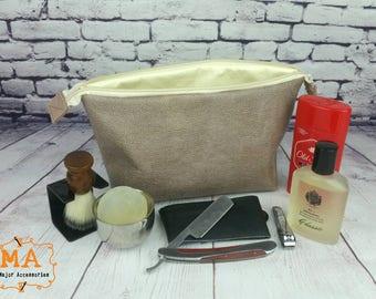 Vinyl Toiletry Toiletries Shaving Kit Retreat Bag