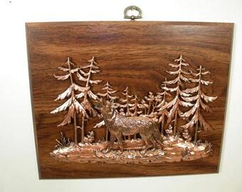 Wildlife Plaque: Wolf (548-30)