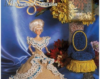 Annies Crochet Millenium collection designs fashion doll pattern sheet - Ride to Northanger Abbey