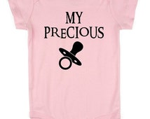 My Precious, Pacifier, Baby  Rabbit Skins Ringspun , Nerdy clothes, nerdy,Nerd Girl Tees,Geek Chic Shirt Gifts Typography,graphic tee