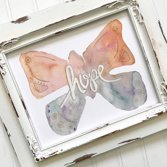 """Hand lettered and Illustrated 8x10"""" Watercolor Print * Catholic Christian Home Decor * Inspiration * Gifts for Her"""