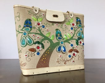 Vintage Enid  Collins Bird Purse Sittin in a Tree Top