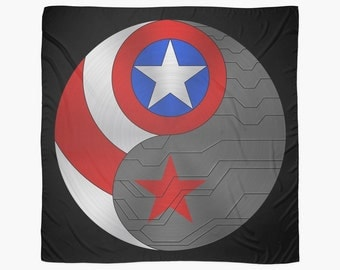 Captain America/ Winter Soldier Ying Yang Tapestry
