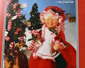 "Mrs. Claus Doll Outfit Crochet Patterns Fibre Craft 13"" doll  Clothes"