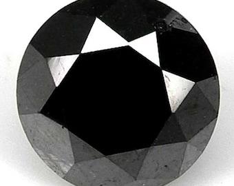 2.31cts 7.5mm Black Natural Loose Diamond