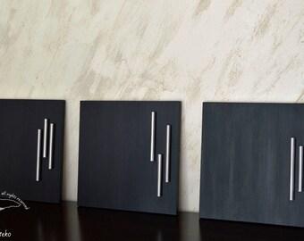 "Acrylic paint, acrylic painting, textured wall art, art abstract, modern painting, textured paintig, wall art. ""Metal heart"""