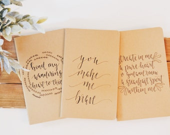 Christian Collection // Hand Lettered Journal