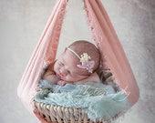 Digital Backdrop Newborn Prop Girls Hanging Basket