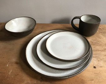 Place setting - Rustic brown clay