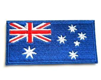 Australian Embroidered Flag Patch Appliqué