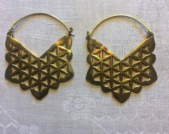 Ear rings, Ear ring Mandala, sacred geometry, meditation, flower of life